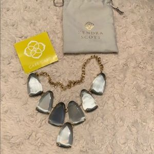 Kendra Scott Gray & Gold Harlow Statement Necklace